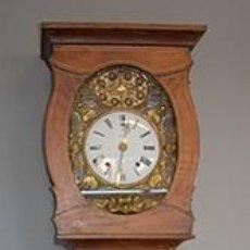 Relojes de pie: RELOJ AUTOMATA -RELOJ MOVIMIENTO CAZADOR - MAQUINA MOREZ - CAJA MADERA DECORADA - FUNCIONA - S. XIX. Lote 40470722