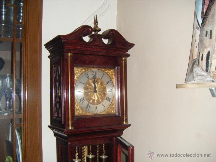 Relojes de pie: RELOJ DE PIE PESAS EN PERFECTO ESTADO - Foto 2 - 41522127