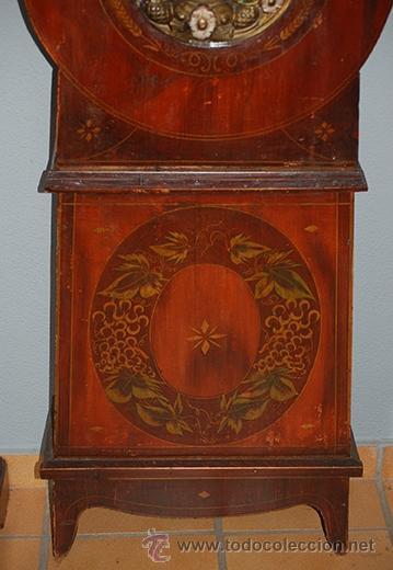 Relojes de pie: Reloj de pie - maquina MOREZ - pendulo y caja decorada - funciona - finales siglo XIX - Foto 3 - 41636738