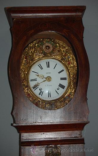 Relojes de pie: Reloj de pie - maquina MOREZ - pendulo y caja decorada - funciona - finales siglo XIX - Foto 4 - 41636738