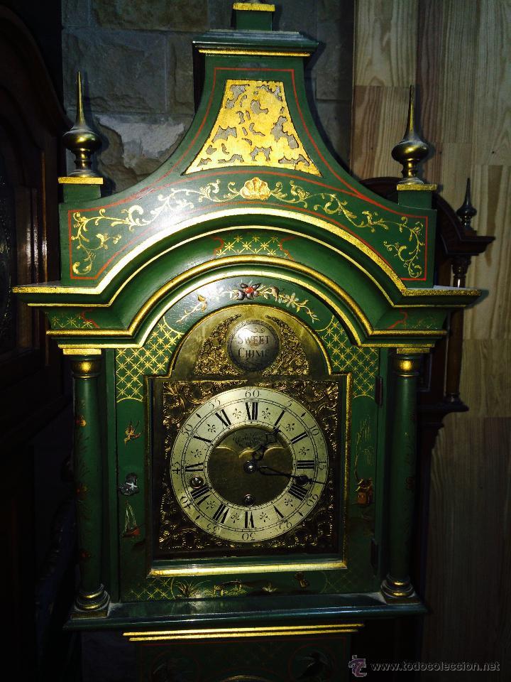 Relojes de pie: ANTIGUO RELOJ DE PIE CARRILLÓN (THEODORE GARLAND) - Foto 2 - 47132246