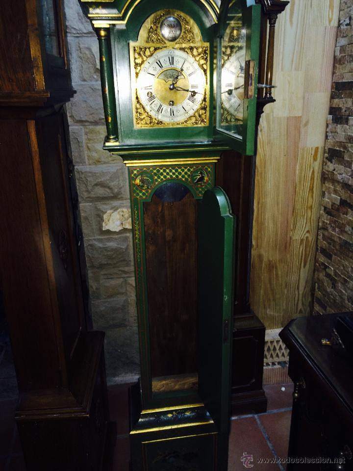 Relojes de pie: ANTIGUO RELOJ DE PIE CARRILLÓN (THEODORE GARLAND) - Foto 4 - 47132246