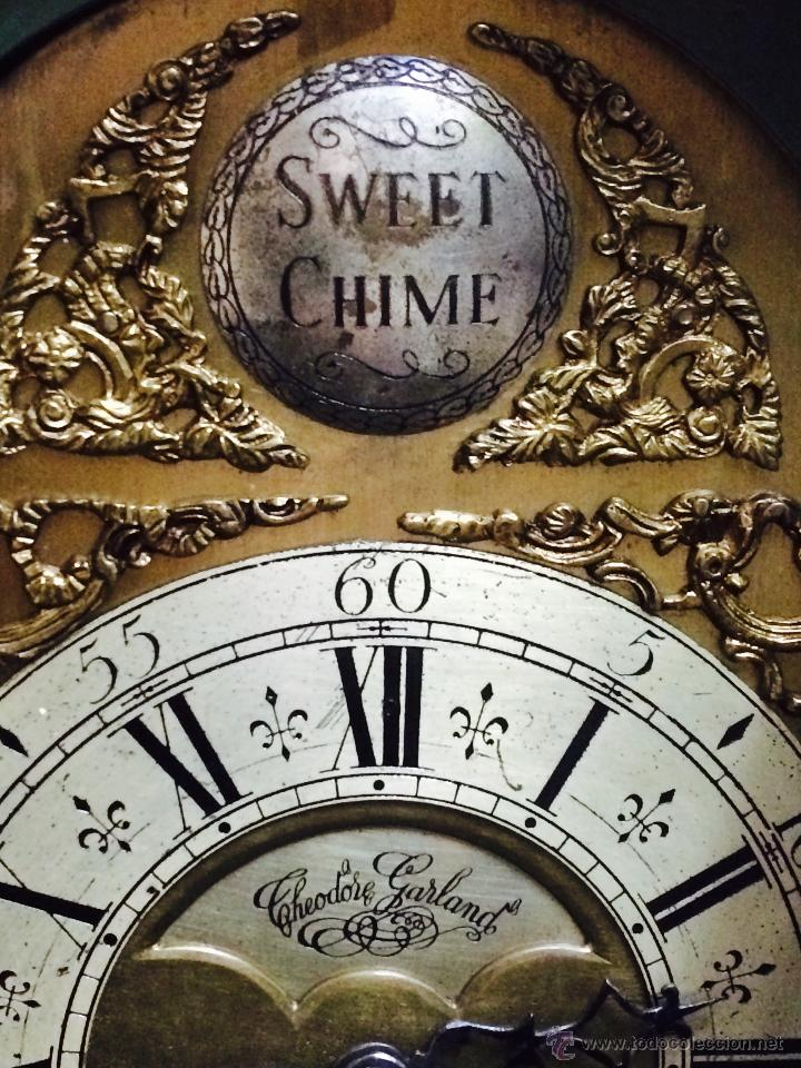 Relojes de pie: ANTIGUO RELOJ DE PIE CARRILLÓN (THEODORE GARLAND) - Foto 6 - 47132246