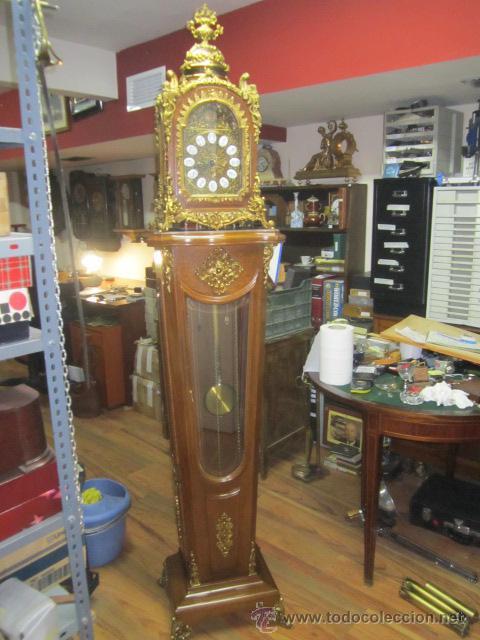 Relojes de pie: Importante reloj de pie marca de lujo Española Lafuente Bronces artísticos con sonerias Funcionando. - Foto 2 - 48040296