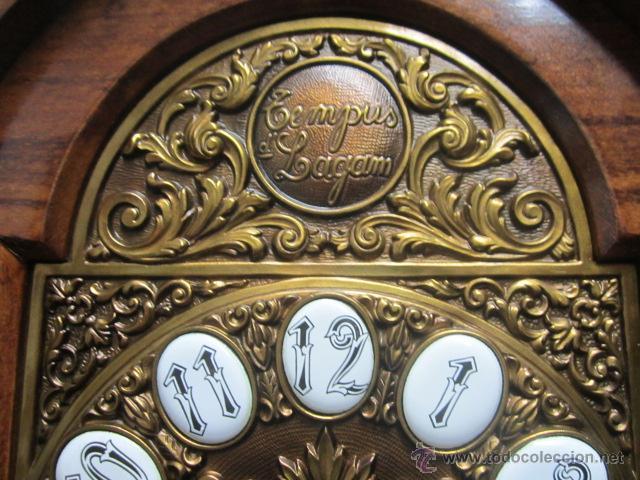 Relojes de pie: Importante reloj de pie marca de lujo Española Lafuente Bronces artísticos con sonerias Funcionando. - Foto 4 - 48040296