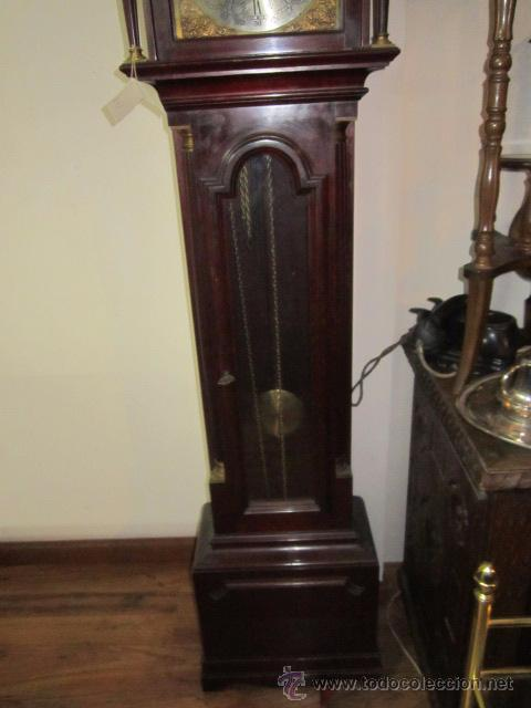 Relojes de pie: Antiguo reloj de pie Tempus Fujit, 3 pesas. 40 x 21 x 193 cms. altura. - Foto 2 - 49090224