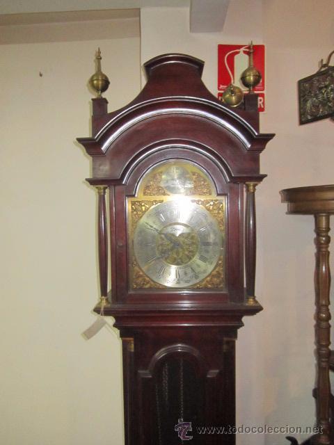 Relojes de pie: Antiguo reloj de pie Tempus Fujit, 3 pesas. 40 x 21 x 193 cms. altura. - Foto 3 - 49090224