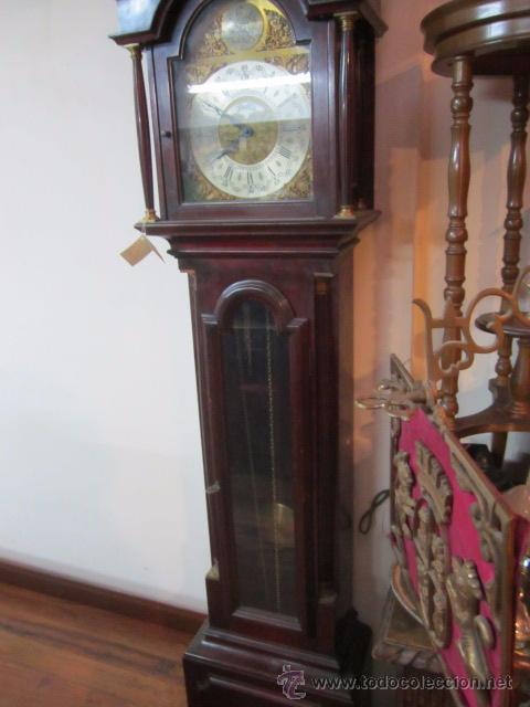 Relojes de pie: Antiguo reloj de pie Tempus Fujit, 3 pesas. 40 x 21 x 193 cms. altura. - Foto 4 - 49090224
