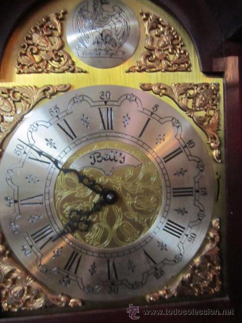 Relojes de pie: Antiguo reloj de pie Tempus Fujit, 3 pesas. 40 x 21 x 193 cms. altura. - Foto 6 - 49090224