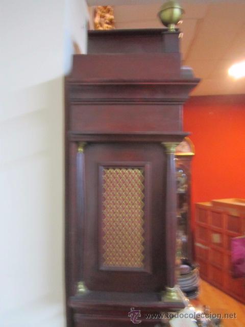 Relojes de pie: Antiguo reloj de pie Tempus Fujit, 3 pesas. 40 x 21 x 193 cms. altura. - Foto 10 - 49090224