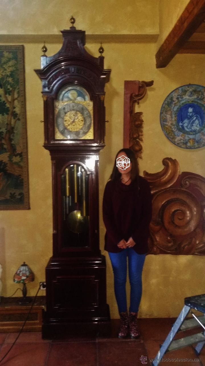 Relojes de pie: RELOJ DE PIE Grandfather ALEMAN,FASES LUNARES DOBLE SONERIA CARILLON,LORENZ FURTWÄNGLER UND SOHNE - Foto 9 - 51741820