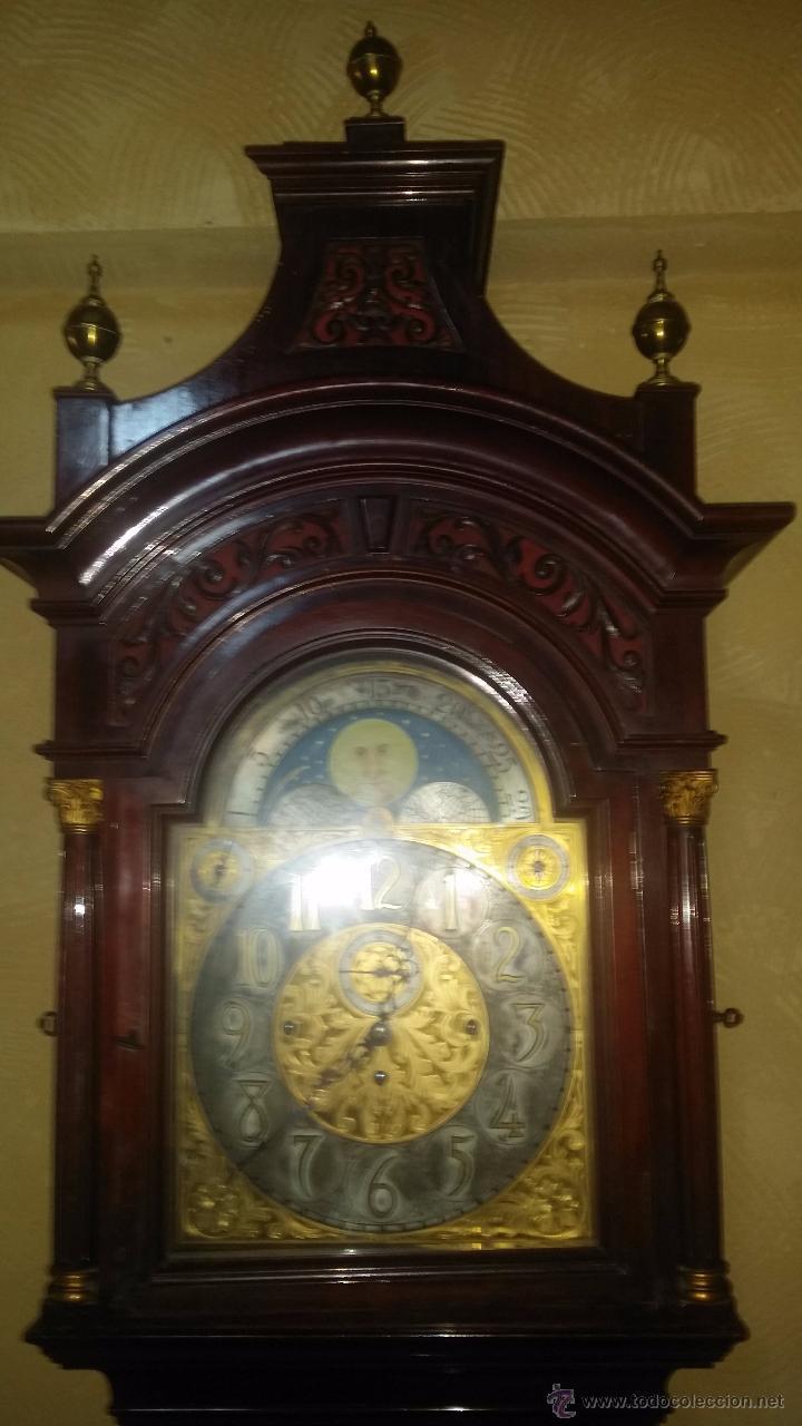 Relojes de pie: RELOJ DE PIE Grandfather ALEMAN,FASES LUNARES DOBLE SONERIA CARILLON,LORENZ FURTWÄNGLER UND SOHNE - Foto 11 - 51741820