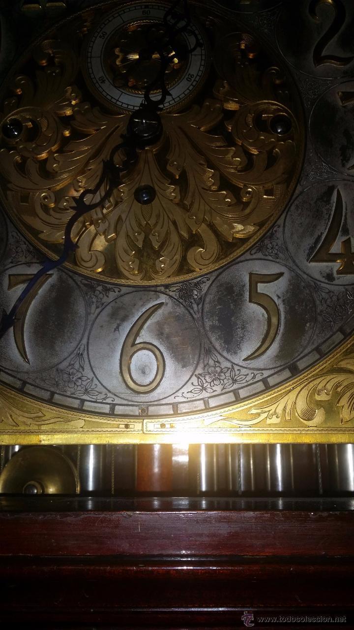 Relojes de pie: RELOJ DE PIE Grandfather ALEMAN,FASES LUNARES DOBLE SONERIA CARILLON,LORENZ FURTWÄNGLER UND SOHNE - Foto 23 - 51741820