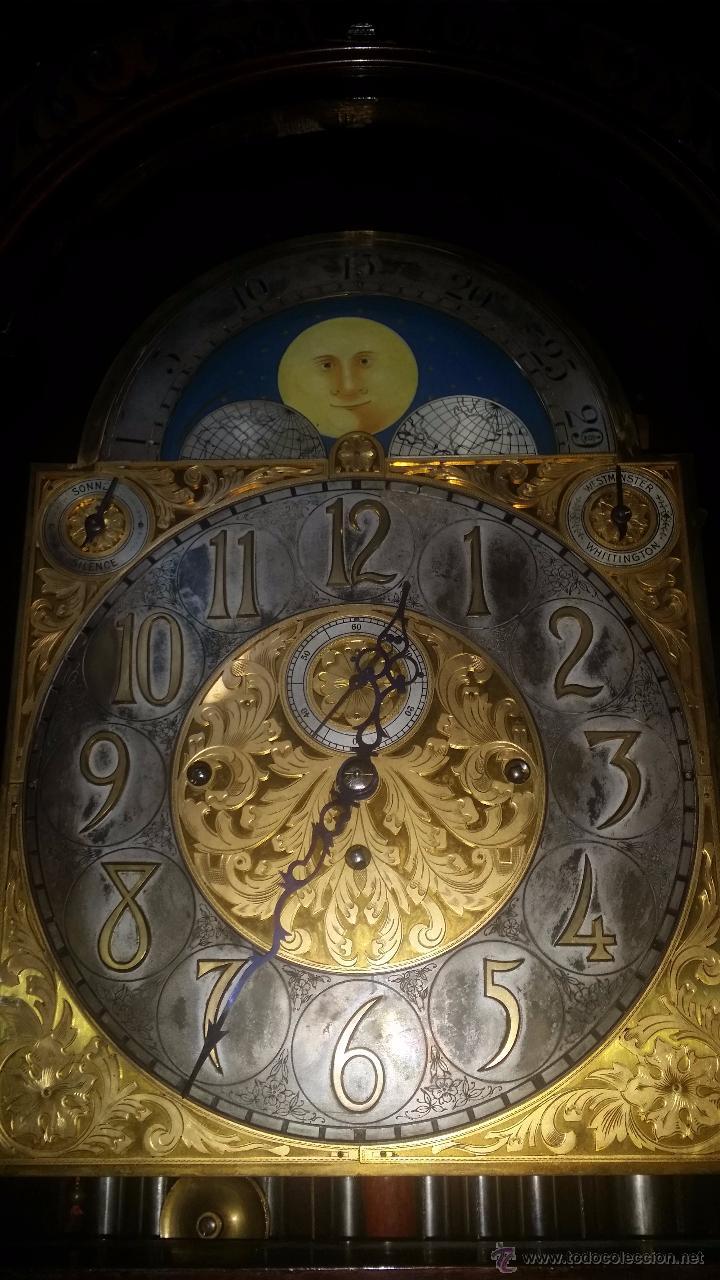 Relojes de pie: RELOJ DE PIE Grandfather ALEMAN,FASES LUNARES DOBLE SONERIA CARILLON,LORENZ FURTWÄNGLER UND SOHNE - Foto 28 - 51741820