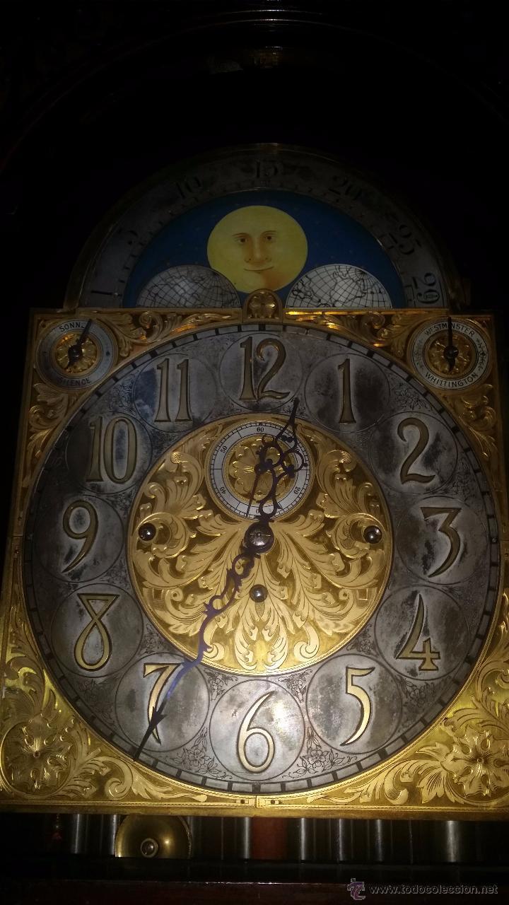 Relojes de pie: RELOJ DE PIE Grandfather ALEMAN,FASES LUNARES DOBLE SONERIA CARILLON,LORENZ FURTWÄNGLER UND SOHNE - Foto 29 - 51741820