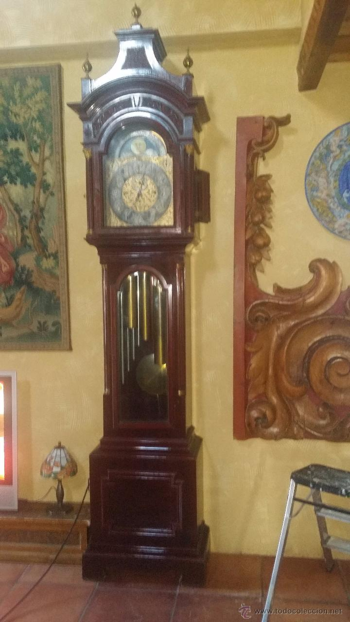 Relojes de pie: RELOJ DE PIE Grandfather ALEMAN,FASES LUNARES DOBLE SONERIA CARILLON,LORENZ FURTWÄNGLER UND SOHNE - Foto 30 - 51741820