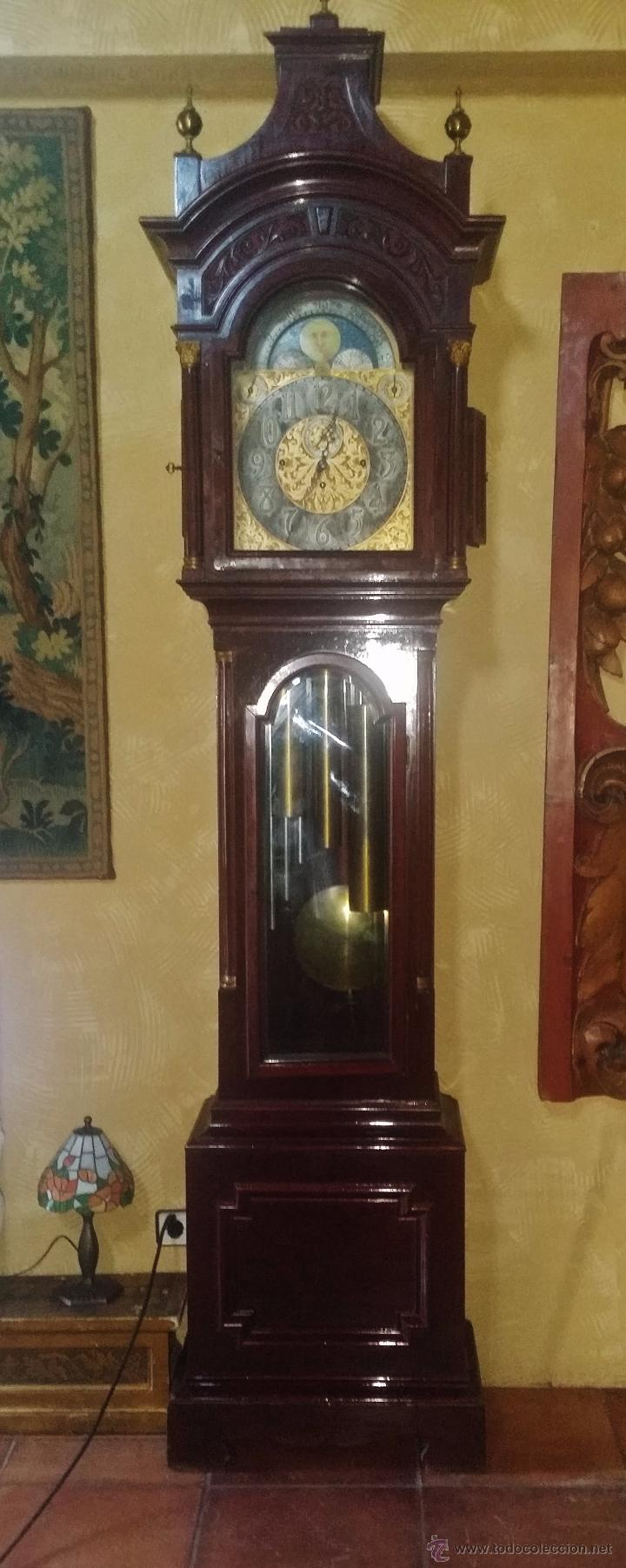 Relojes de pie: RELOJ DE PIE Grandfather ALEMAN,FASES LUNARES DOBLE SONERIA CARILLON,LORENZ FURTWÄNGLER UND SOHNE - Foto 32 - 51741820