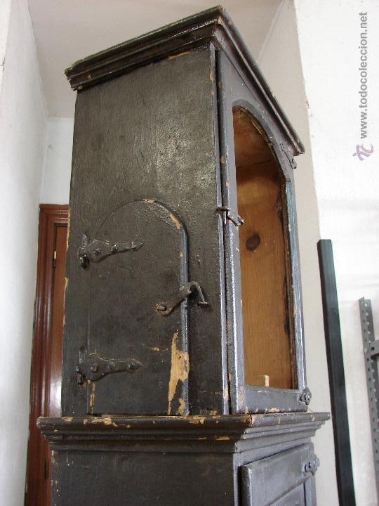Relojes de pie: ANTIGUA CAJA PARA RELOJ DE PARED. SIGLO XVIII - Foto 6 - 53340814