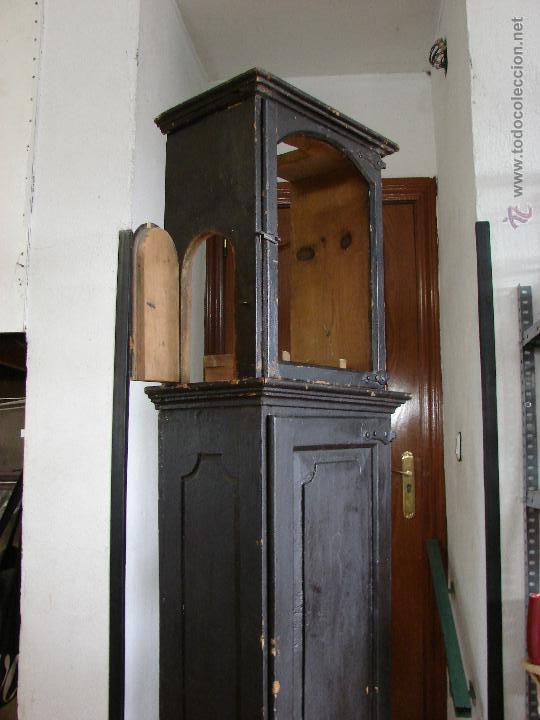 Relojes de pie: ANTIGUA CAJA PARA RELOJ DE PARED. SIGLO XVIII - Foto 7 - 53340814
