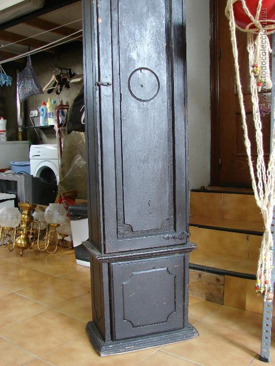 Relojes de pie: ANTIGUA CAJA PARA RELOJ DE PARED. SIGLO XVIII - Foto 9 - 53340814