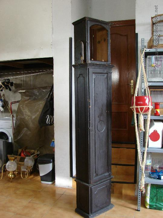 Relojes de pie: ANTIGUA CAJA PARA RELOJ DE PARED. SIGLO XVIII - Foto 10 - 53340814