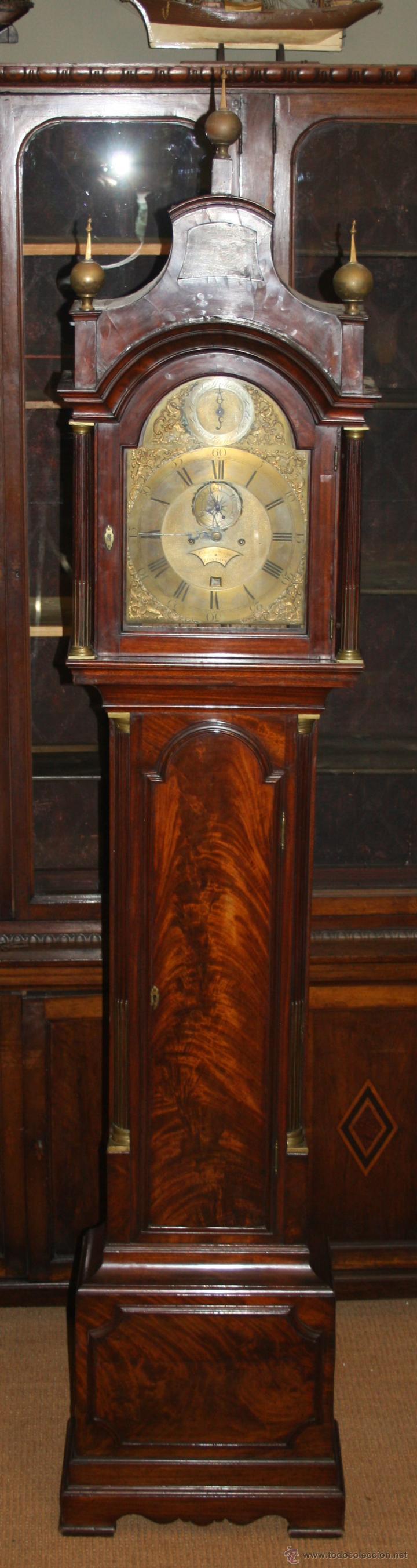 RELOJ DE PIE - CHARLES HOWSE LONDON - MADERA DE CAOBA - SIGLO XVIII (Relojes - Pie Carga Manual)