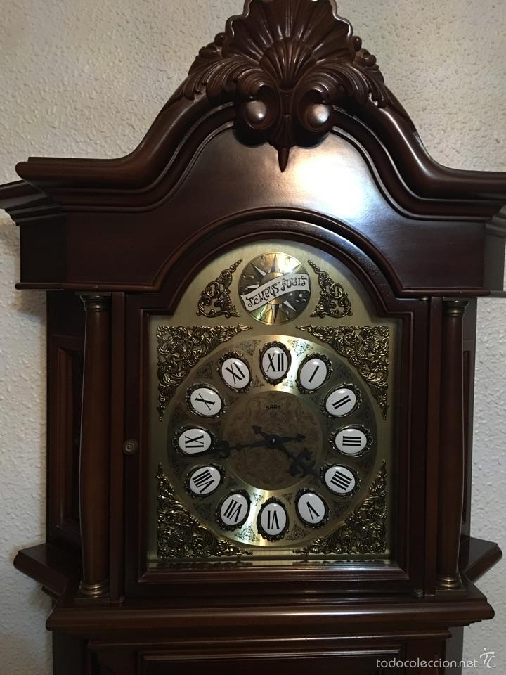 Relojes de pie: Reloj de pie de madera Tempus fugit. Funciona perfectamente - Foto 3 - 55359925