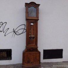Relojes de pie: MUY ANTIGUA (SOBRE 1800) Y ENORME CAJA DE RELOJ ?PARA UN LONDON? DE MUY BUENA MADERA NOGAL, COMPLET. Lote 55714337