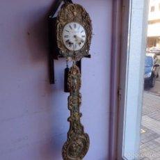 Relojes de pie: MUY ANTIGUO (SOBRE 1880) E IMPORTANTE RELOJ A PESAS MOREZ PENDULO REAL DE PINTURAS, COMPLTO Y FUNCIO. Lote 55921219