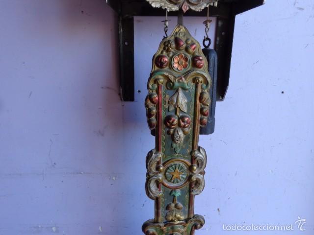 Relojes de pie: MUY ANTIGUO (SOBRE 1880) E IMPORTANTE RELOJ A PESAS MOREZ PENDULO REAL DE PINTURAS, COMPLTO Y FUNCIO - Foto 3 - 55921219
