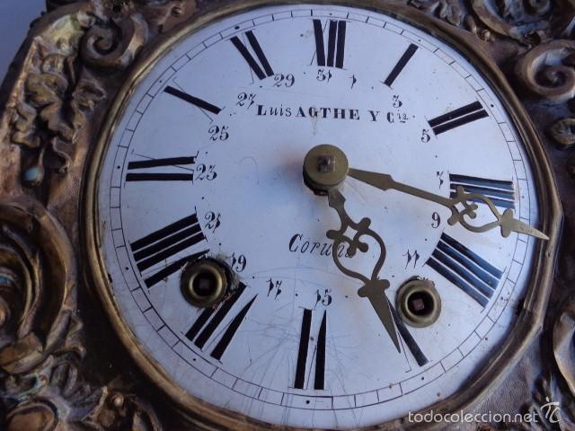 Relojes de pie: MUY ANTIGUO (SOBRE 1880) E IMPORTANTE RELOJ A PESAS MOREZ PENDULO REAL DE PINTURAS, COMPLTO Y FUNCIO - Foto 7 - 55921219