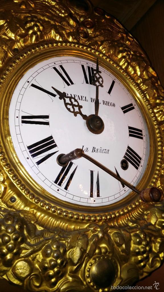 Relojes de pie: RELOJ DE PIE CON CAJA DE MADERA PRINCIPIOS DEL XX - Foto 9 - 56936998