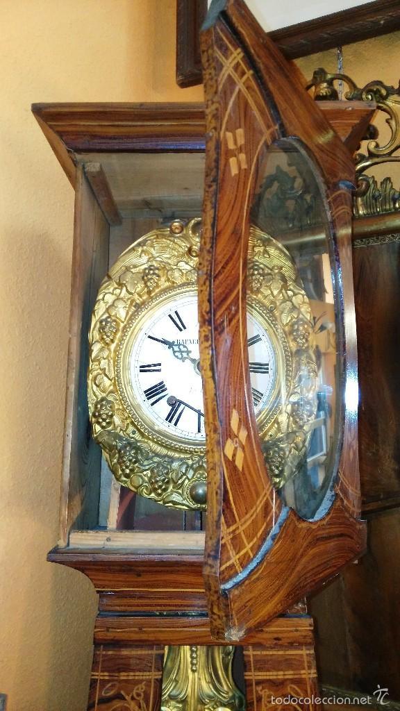 Relojes de pie: RELOJ DE PIE CON CAJA DE MADERA PRINCIPIOS DEL XX - Foto 10 - 56936998