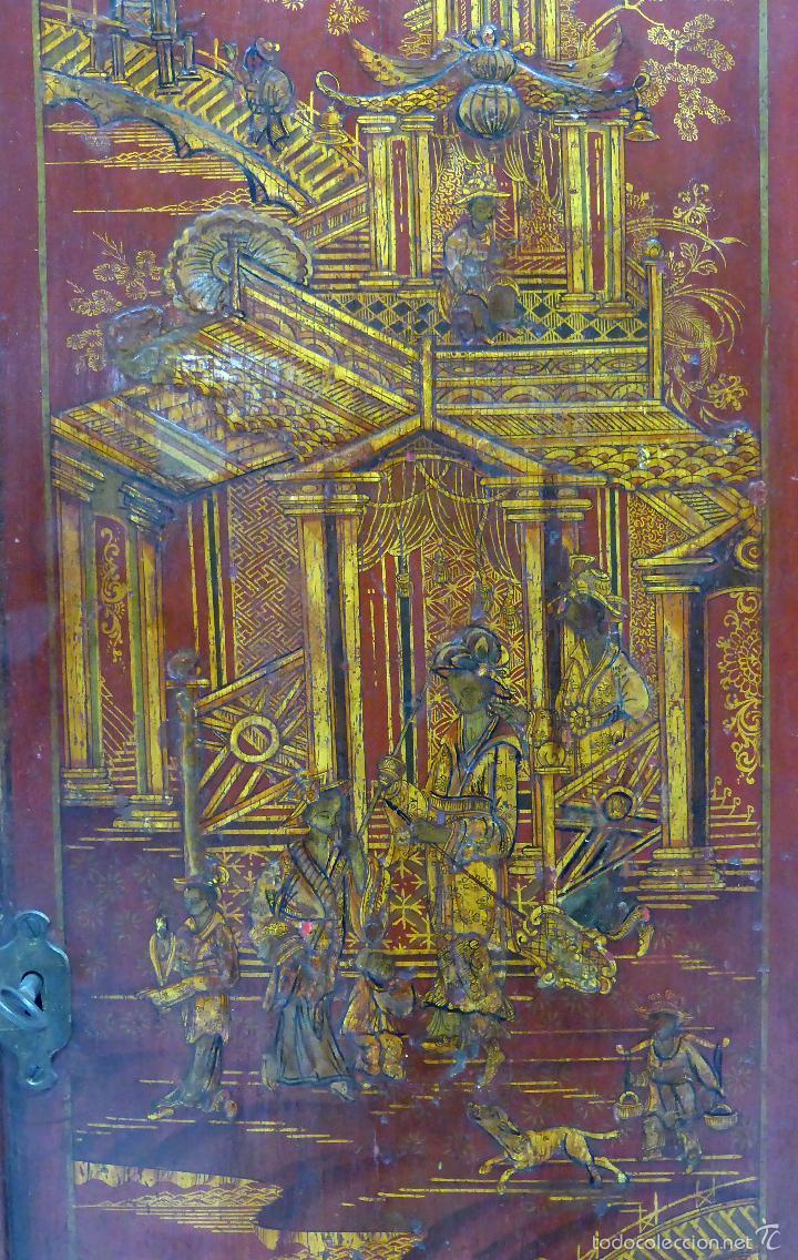 Relojes de pie: Reloj pie inglés laca japanning chinoseries S XVIII Maquinaria William Fidgett London Funciona - Foto 4 - 58294331
