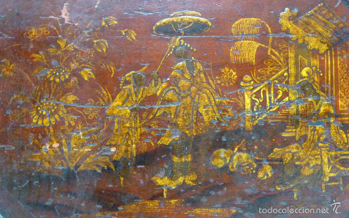 Relojes de pie: Reloj pie inglés laca japanning chinoseries S XVIII Maquinaria William Fidgett London Funciona - Foto 10 - 58294331