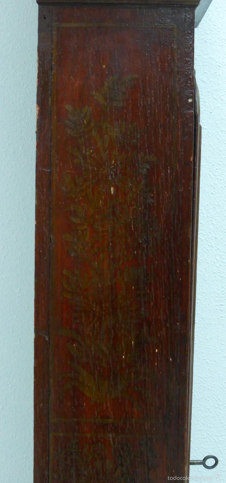 Relojes de pie: Reloj pie inglés laca japanning chinoseries S XVIII Maquinaria William Fidgett London Funciona - Foto 17 - 58294331