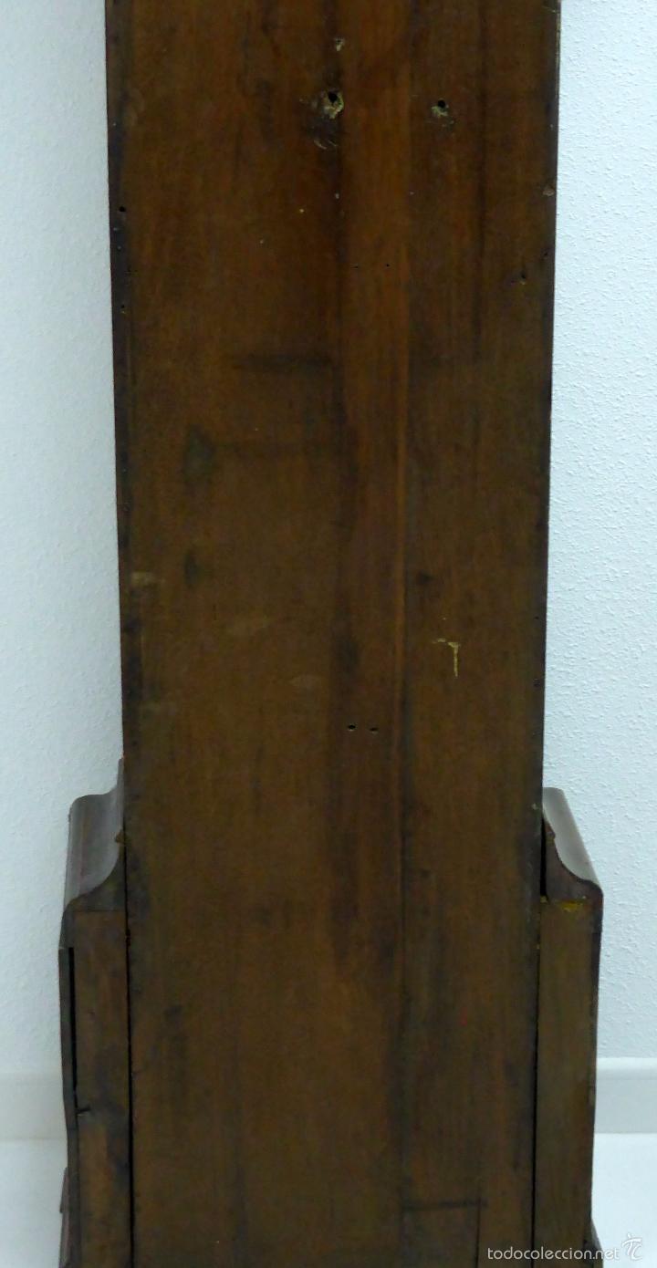 Relojes de pie: Reloj pie inglés laca japanning chinoseries S XVIII Maquinaria William Fidgett London Funciona - Foto 21 - 58294331