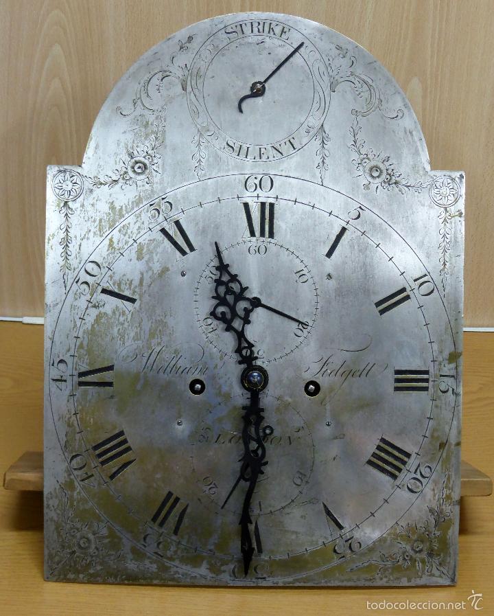 Relojes de pie: Reloj pie inglés laca japanning chinoseries S XVIII Maquinaria William Fidgett London Funciona - Foto 27 - 58294331