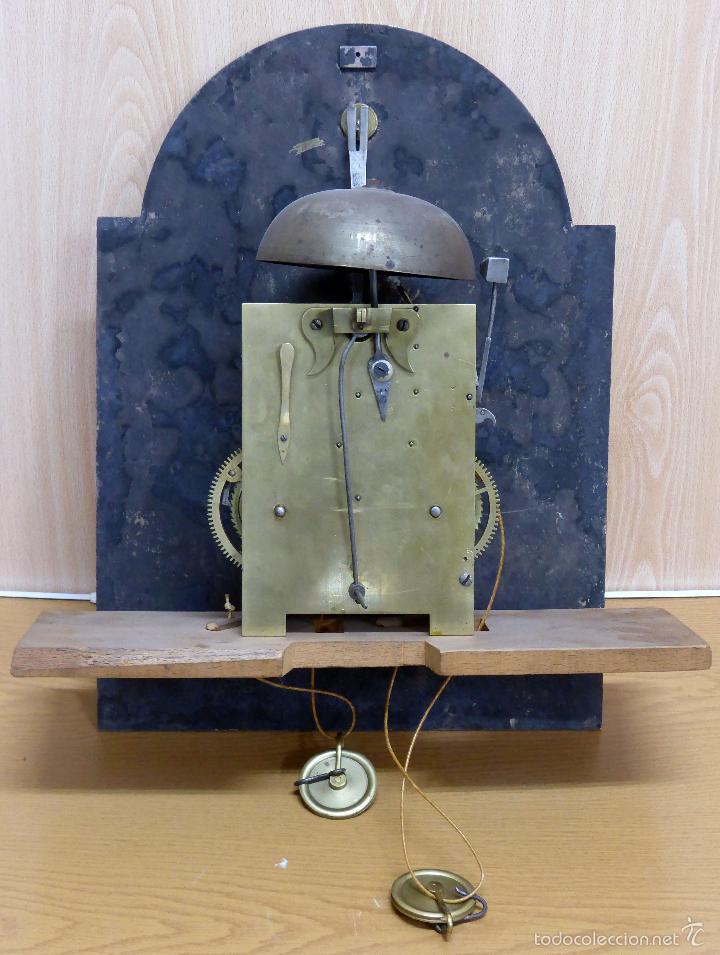 Relojes de pie: Reloj pie inglés laca japanning chinoseries S XVIII Maquinaria William Fidgett London Funciona - Foto 29 - 58294331