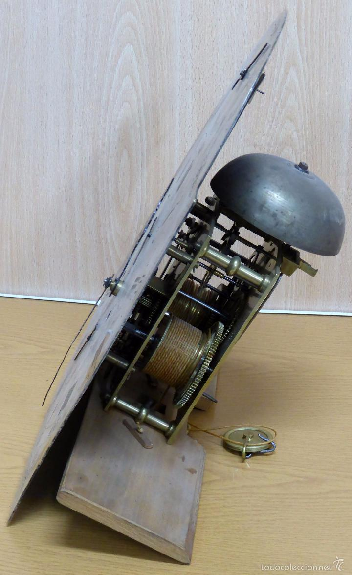 Relojes de pie: Reloj pie inglés laca japanning chinoseries S XVIII Maquinaria William Fidgett London Funciona - Foto 30 - 58294331