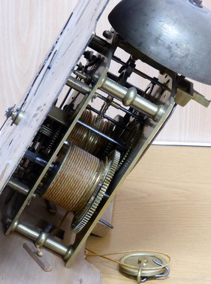 Relojes de pie: Reloj pie inglés laca japanning chinoseries S XVIII Maquinaria William Fidgett London Funciona - Foto 31 - 58294331