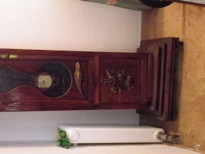 Relojes de pie: ANTIGUA CAJA DE MADERA PARA RELOJ DE PIE 220X50X40 CM OCASIÓN - Foto 2 - 60226531