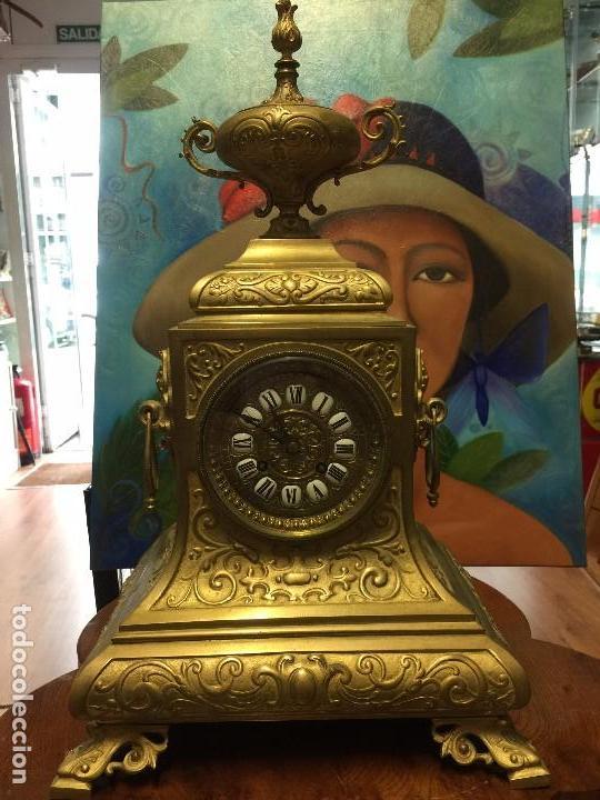 RELOJ MAQUINARIA PARIS , XIX , (Relojes - Pie Carga Manual)