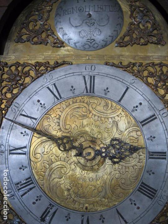 Relojes de pie: Espectacular reloj de una pesa, movimiento siglo XVI, caja XIX. Spectacular clock XVI - Foto 8 - 64613199