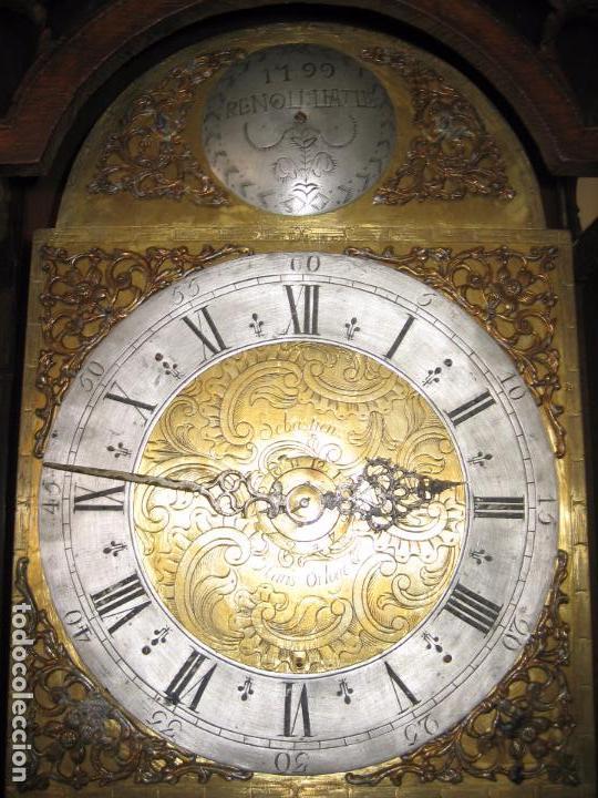 Relojes de pie: Espectacular reloj de una pesa, movimiento siglo XVI, caja XIX. Spectacular clock XVI - Foto 9 - 64613199