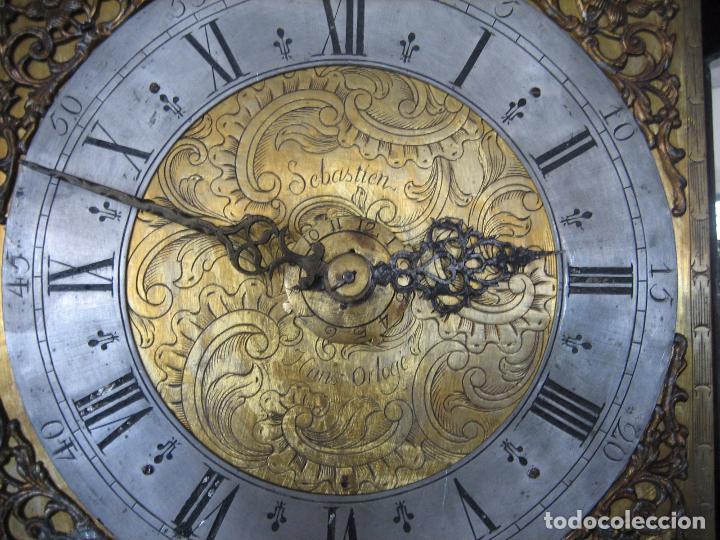 Relojes de pie: Espectacular reloj de una pesa, movimiento siglo XVI, caja XIX. Spectacular clock XVI - Foto 10 - 64613199