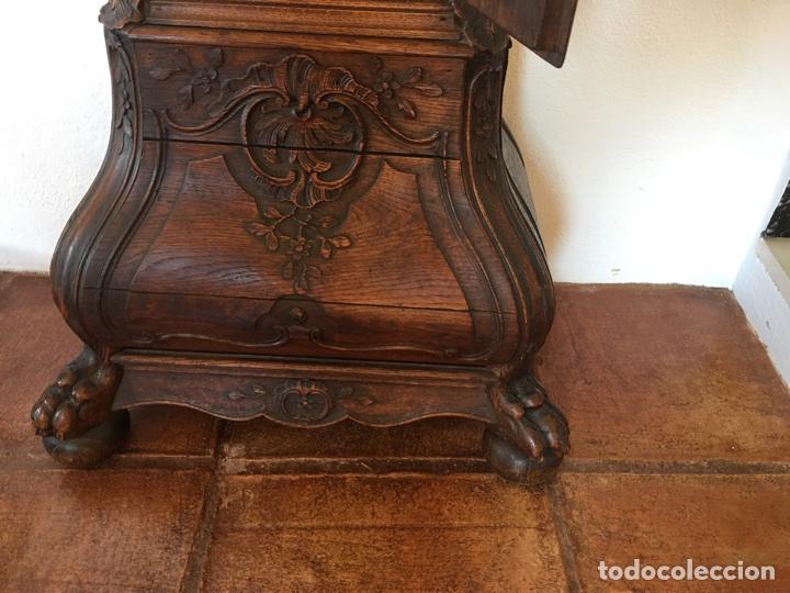 Relojes de pie: Espectacular reloj de una pesa, movimiento siglo XVI, caja XIX. Spectacular clock XVI - Foto 12 - 64613199