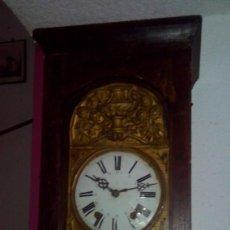 Relojes de pie: ANTIGUO RELOJ MOREZ DE PIE Y PÉNDULO DE LIRA. Lote 67579929
