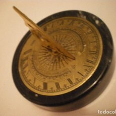 Relojes de pie: RELOJ DE SOL CON SOPORTE DE PIEDRA MARMOL VERDE. Lote 68547665