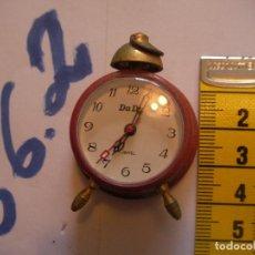 Relojes de pie: ANTIGUO RELOJ MINIATURA FUNCIONANDO NUEVO DE TIENDA. Lote 75924219